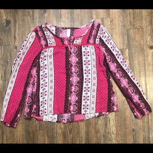 Girls peasant blouse